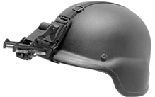 Standard Flip-Up Helmet Mount GSCI HM-714R-C with Straps. ITAR-Free. Exportable worldwide.