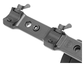 Quick Release MAK Blaser Mount available with both adapter types to attach your GSCI system to a 1913 mil-standard rail.