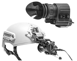 Head-Mounted Display HMD-800, video steam directly from GSCI system. Hands-free operation available with J-Arm and Head-gear or Helmet Mount.